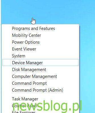 menu szybkiego dostepu windows 8