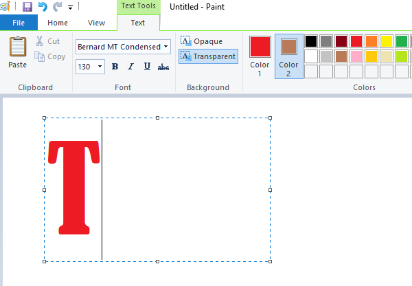 Jak dodać tekst i zmienić kolor w MS Paint w Windows 10