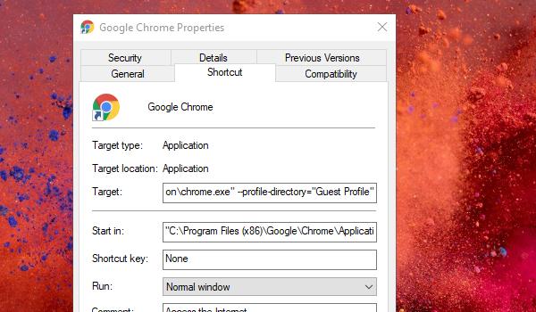 Flaga Chrome w trybie gościa