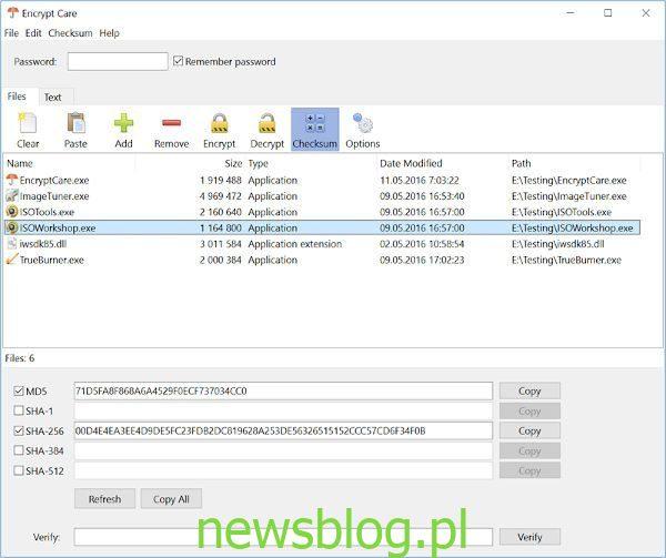 Encrypt Care to bezpłatne oprogramowanie do szyfrowania dla systemu Windows 10
