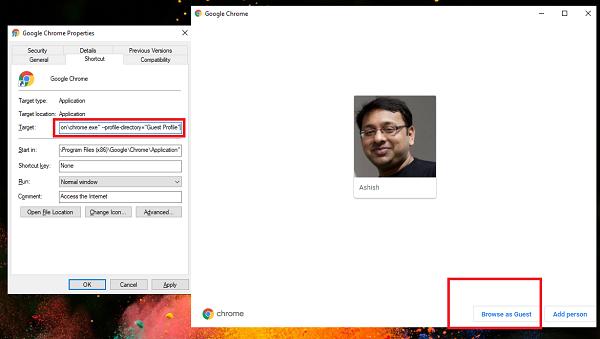Zawsze otwieraj tryb gościa Chrome