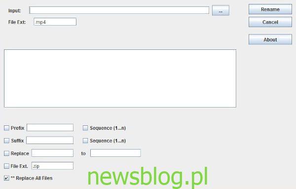 Just Another Batch File Renamer oprogramowanie dla komputerów z systemem Windows