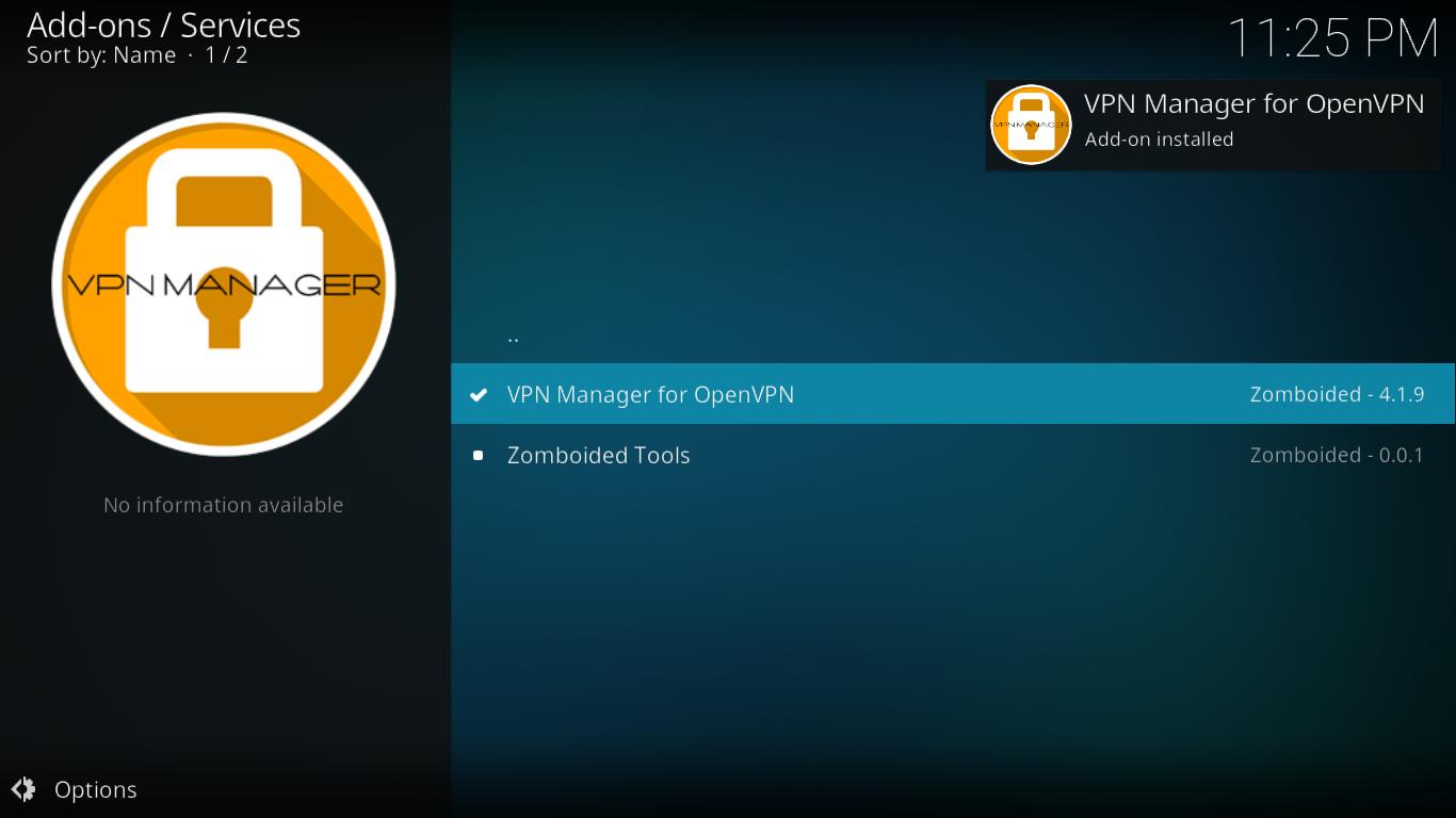 Instalacja VPN Manager zakończona