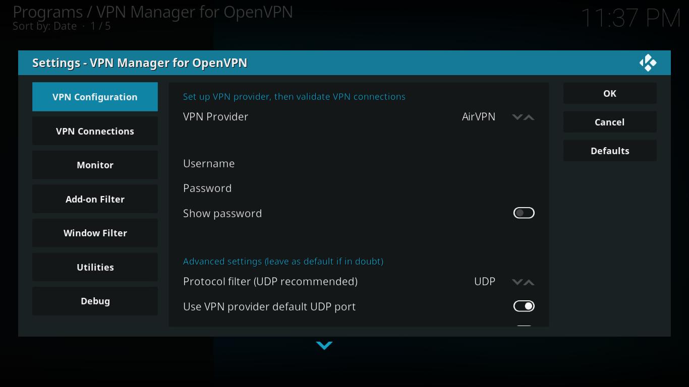 Konfiguracja Menedżera VPN