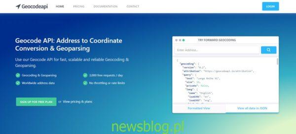 Geokod API: Adres do konwersji współrzędnych i geoprzetwarzania