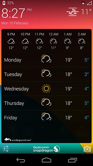 Informacje o pogodzie