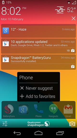 Aplikacje sugerowane-na-ekran-blokady-spojrzenia