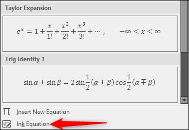 Równanie atramentu