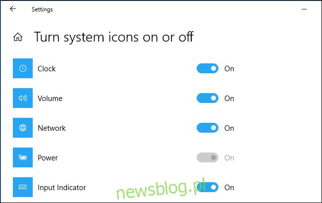 Wyszarzona opcja ikony zasilania na komputerze stacjonarnym z systemem Windows 10