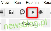 Kliknij ikonę Uruchom