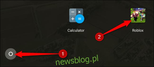 Uzyskaj dostęp do Roblox w dowolnym momencie z szuflady aplikacji, klikając szufladę, a następnie przewiń w dół i kliknij Roblox