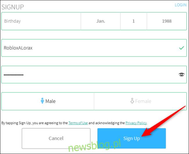 Wypełnij formularz, aby utworzyć konto