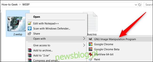 Otwórz WebP z alternatywną aplikacją w systemie Windows