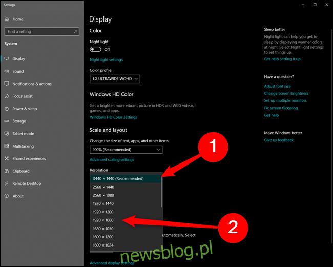 Microsoft Windows 10 Zmień rozdzielczość