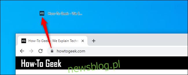 Tworzenie łącza skrótu na pulpicie do strony internetowej w przeglądarce Google Chrome w systemie Windows 10