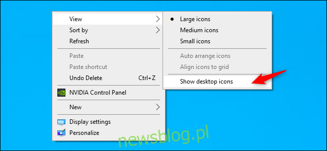 Odkrywanie ikon pulpitu w systemie Windows 10