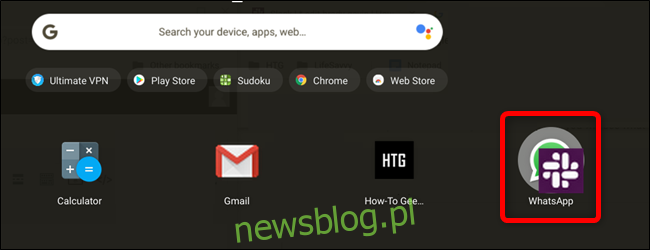 Przeciągnij ikonę aplikacji bezpośrednio na ikonę innej aplikacji, aby utworzyć folder.