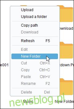 Airdroid PC Utwórz nową opcję folderu