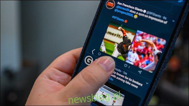Ikona Wstecz nawigacji gestami w systemie Android 10