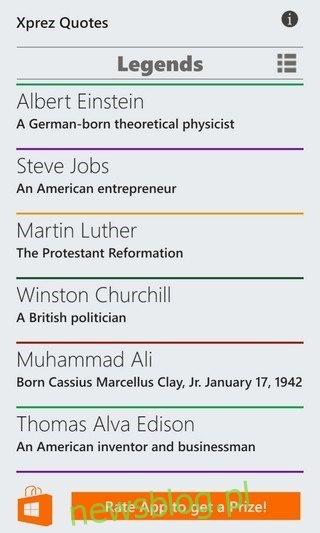 #Quotes WP8.1 Kategorie