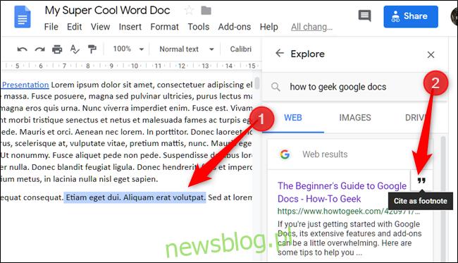 Zaznacz tekst lub umieść kursor w miejscu, w którym chcesz coś zacytować, a następnie kliknij ikonę cytatu, która pojawia się po najechaniu kursorem na link.