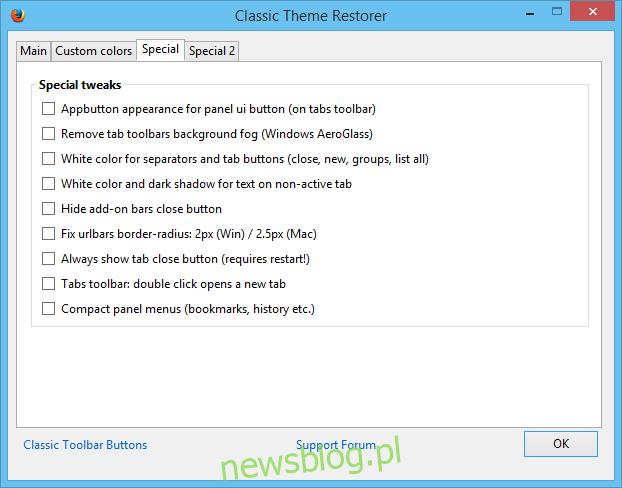 Przywróć motyw klasyczny Firefox 29_Special Tweaks