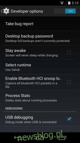 debugowanie USB