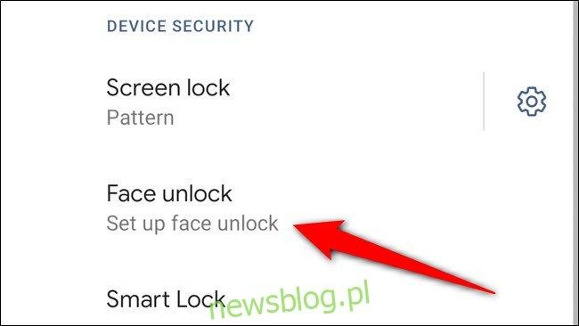 Google Pixel 4 Wybierz Skonfiguruj Face Unlock