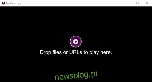 Aby otworzyć plik za pomocą MPV, przeciągnij plik do interfejsu MPV