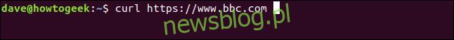 curl https://www.bbc.com w oknie terminala