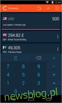 Prosty kalkulator walut_Nowy motyw