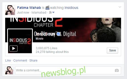 film na Facebooku