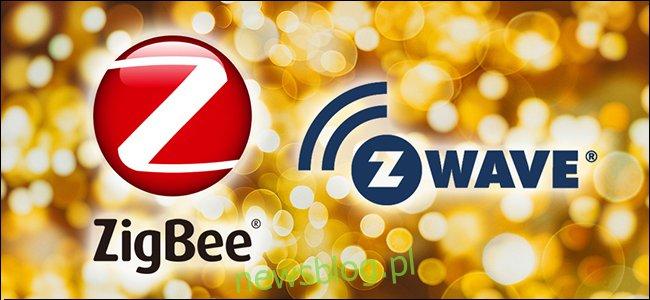 Logo ZigBee i Z-Wave.