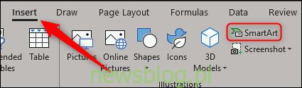 Wstaw grafikę SmartArt w programie Excel