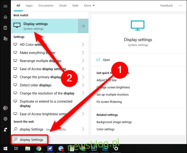 Ustawienia wyświetlania menu Start systemu Microsoft Windows 10