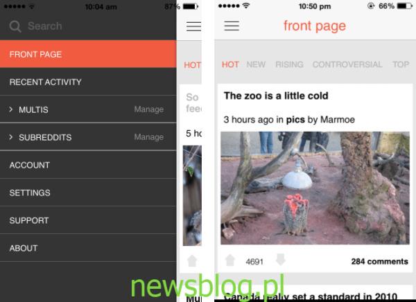 Karma Train Reddit Alternatywny klient iOS