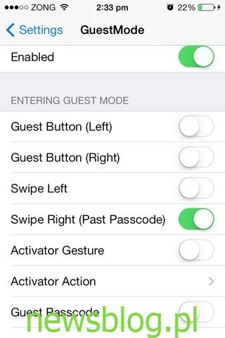 GuestMode iOS Enable