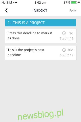Projekt Next Deadline