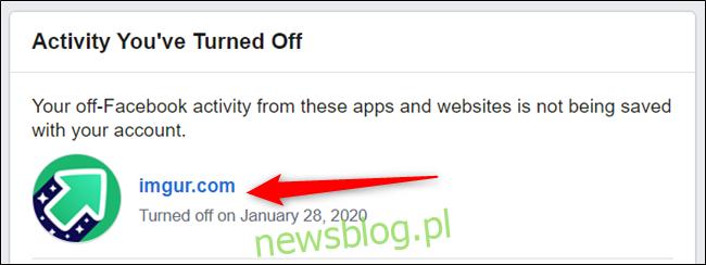 Kliknij aplikację lub witrynę na liście wcześniej usuniętych elementów.