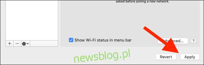 Kliknij przycisk Zastosuj, aby zapisać listę priorytetów Wi-Fi