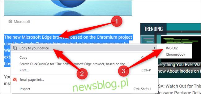 """Zaznacz tekst, kliknij prawym przyciskiem myszy i kliknij Kopiuj na swoje urządzenie> Twoje urządzenie """". width = """"650 ″ height ="""" 304 ″ onload = """"pagespeed.lazyLoadImages.loadIfVisibleAndMaybeBeacon (this);"""" onerror = """"this.onerror = null; pagespeed.lazyLoadImages.loadIfVisibleAndMaybeBeacon (this);""""> </p><p> Gdy wyślesz tekst na inne urządzenie, zobaczysz małe powiadomienie w omniboksie. </ p > </p><p> <img loading ="""