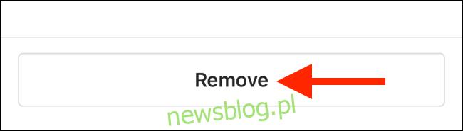 Kliknij Usuń, aby usunąć posty z kolekcji