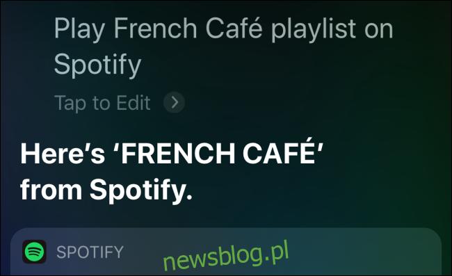 Spotify płaci za playlistę w Siri