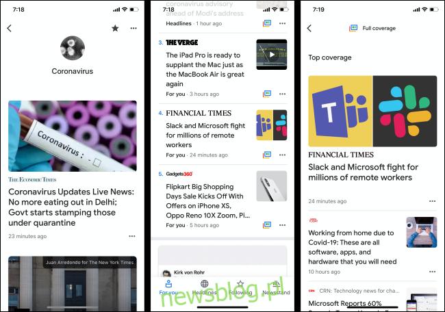 Aplikacja Wiadomości Google na iPhone'a i Androida