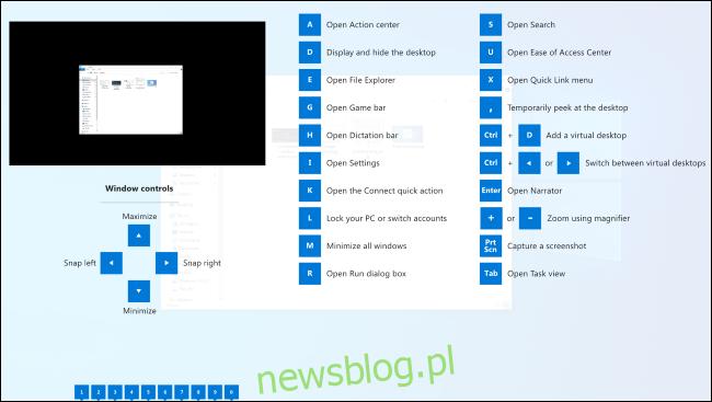 Nakładka przewodnika po skrótach klawiszowych Windows w PowerToys