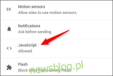 Opcja Javascript