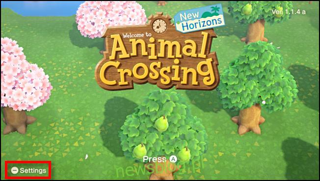 Opcje uruchamiania z ekranu tytułowego w Animal Crossing: New Horizons