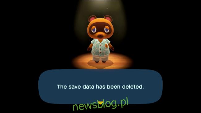 Dane rejestracyjne gracza zostały usunięte w Animal Crossing: New Horizons