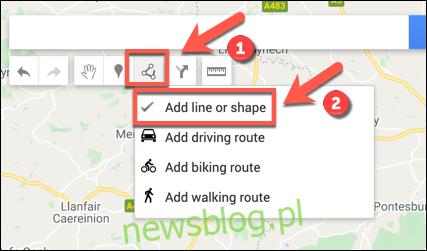 """Naciśnij Narysuj linię> Dodaj linię lub kształt, aby rozpocząć dodawanie linii lub kształtu do własnej mapy Map Google """"width ="""" 427 ″ height = """"251 ″ onload ="""" pagespeed.lazyLoadImages.loadIfVisibleAndMaybeBeacon (this); """" onerror = """"this.onerror = null; pagespeed.lazyLoadImages.loadIfVisibleAndMaybeBeacon (this);""""> </p><p> W odpowiednim obszarze mapy narysuj linię za pomocą myszy lub gładzika – użyj wielu linii, aby utworzyć połączony kształt. </p><p> <img loading ="""