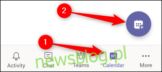 Spotkanie z harmonogramem mobilnym aplikacji Teams